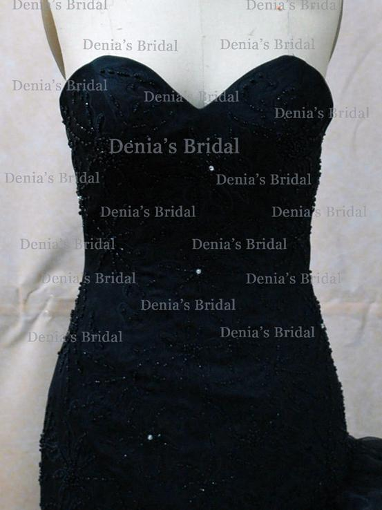freida black mermaid gown