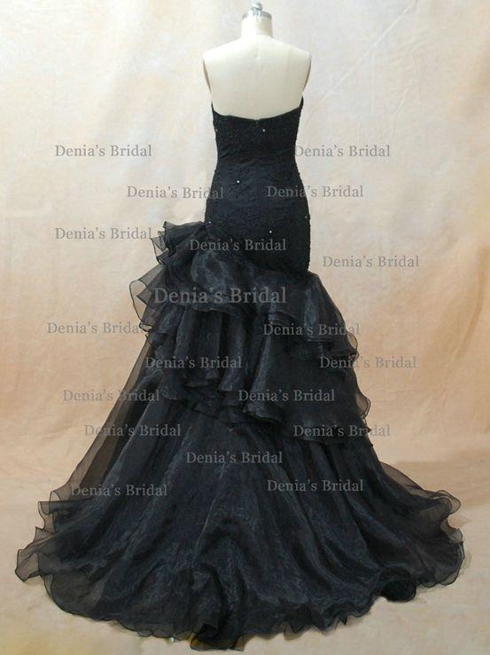 watts bridal Freida black mermaid wedding dress