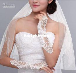 Wholesale Cotton Bridal Gloves - Wholesale - HOT 20PCS(10pair)Elegant fingerless flowers gloves Bridal Gloves Wedding Gloves Decorating Bride