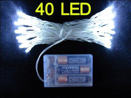 40 LED string MINI FAIRY LIGHTS BATTERY power OPERATED 3XAA Battery Christmas lights xmas wedding party flash white Fedex