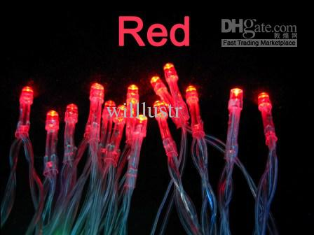 40 LED string MINI FAIRY LIGHTS BATTERY power OPERATED wedding party flash red color Fedex