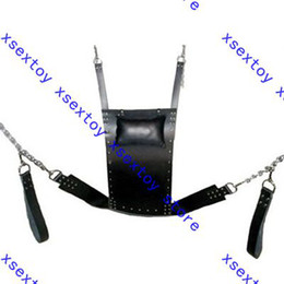 Wholesale Slings Stirrups - 1pc xsextoy High quality Leather Strict Leather Sling w  Stirrups and Pillow dad2