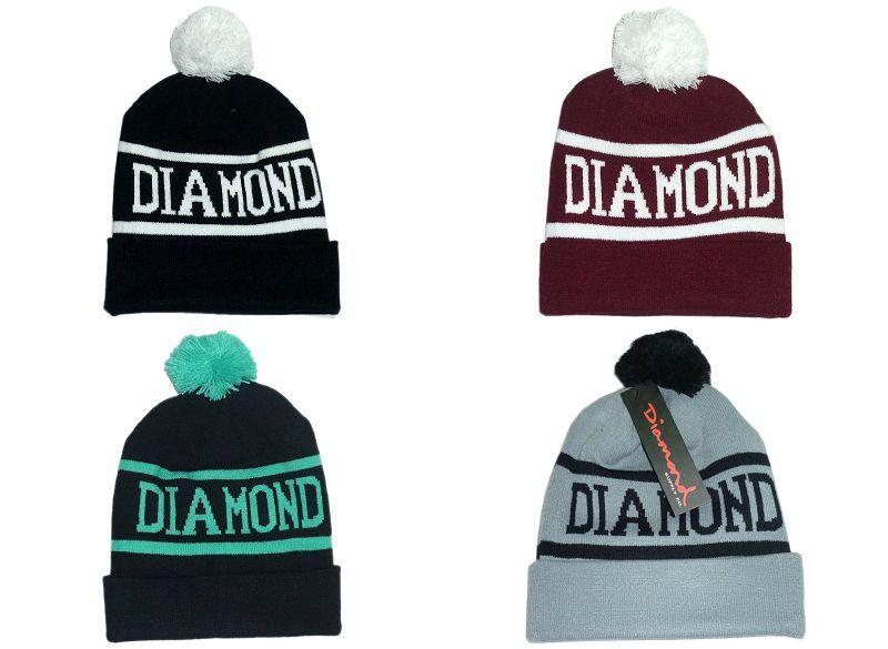 Diamond Supply Co. World Beanie med Pom Pom Beanies Hip Hop Snapback Hattar Custom Stickad Cap Snapbacks Popular Hat Cap Free Ship