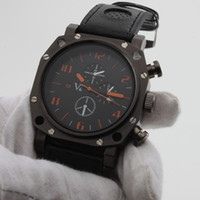 Wholesale v6 military watches resale online - New Updated V6 Black Gladiator Men s Sport PU Leather Quartz Wrist Military Watch High quality