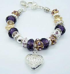 Wholesale European Lovely Beads Charm Bracelet - Wholesale - 10pcs lot Fashion European Design Lovely Beads Charm Bracelet 925 silver Heart Pendant Bracelet