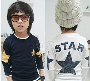 top popular Wholesale - Free shipping! Spring and autumn children's long-sleeved T-shirt kids clothes baby boy tops tees 5pcs lot 2020