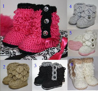 Wholesale Crochet Shoes Baby Prices - 10%off!5Clors!Trendy Tassel baby shoes,new 9 10 11 toddler shoes,factory price snow booties,cheap shoes,china shoes,shoes shop!6pairs 12pcs
