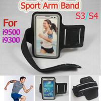 freies verschiffen blackberry beutel großhandel-Freier Verschiffen-Sport, der Armband-Ledergürtel-Klipp-Fall-wasserdichtes Arm-Band für Samsung-Galaxie S3 SIII i9300 S4 i9500 Gymnastik-Beutel läuft