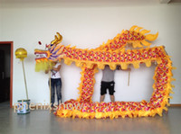 Wholesale Dance Dragons - 10m size 3 For 6 adults silk fabric Chinese Spring Day Chinese DRAGON DANCE ORIGINAL Dragon Chinese Folk Festival Celebration Costume