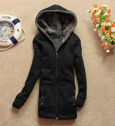 Wholesale Cheap Warm Black Winter Coat - cheap price black Fashion Korean women winter outerwear cotton-padded clothes Red+Black+Grey winter warm long coat jackets