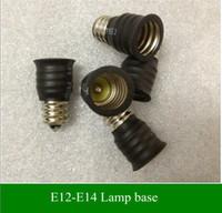 Wholesale Spotlight Holders - Lamp Holder Converters Base Converter E14 to E12 or E12 to E14 for LED candle light LED bulbs and led spotlights