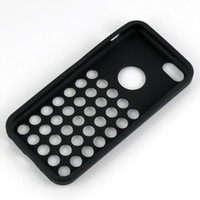 Wholesale Silicon Dot Case 5c - new official Silicon cases for iphone5c iphone 5c dot dots soft back cover case colorful