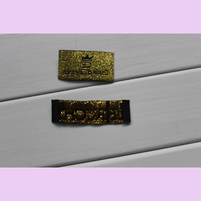 gewebte oder gedruckte Aufkleber der kundenspezifischen Kleidungsaufkleber trennen getrennten gefaltetes gefaltetes