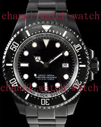 Wholesale Dlc Pvd - Factory Seller Luxury New In Box AAA 116660 Sea Black PVD DLC 44mm Automatic Mechanical Movement Men's Watch Mens Date Sport Wrist Watches
