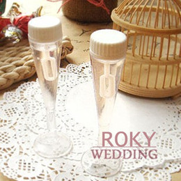 Wholesale Wedding Shower Soap Favors - Free Shipping!24pcs lot! Champagne Glass Wedding Bubble Bottle Favors soap water bottle for weddings and party baby shower favors