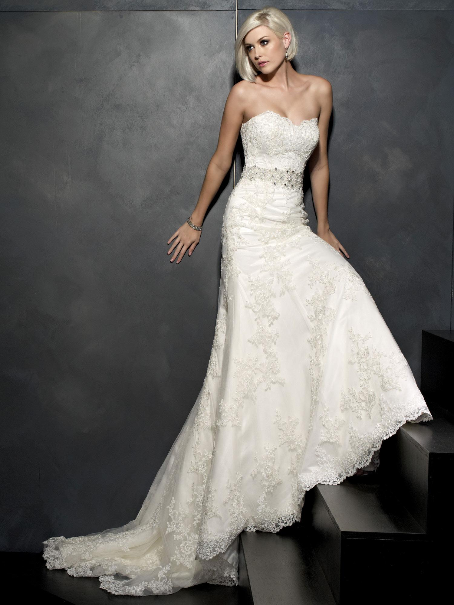 Kenneth Winston 1530 Wedding Dresses Mermaid Lace Sweetheart Beaded ...