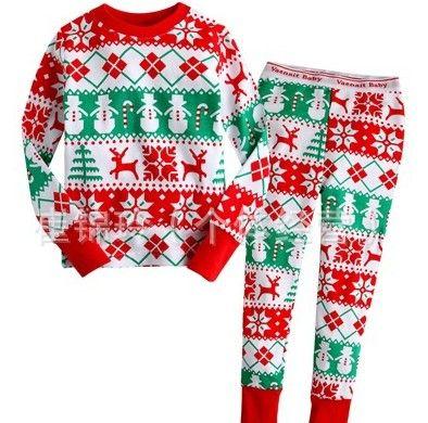 Wholesale - New Christmas Sleepwear Boys Suit long sleeve Pajamas Suit - Baby Suit Pants + t-shirts Pyjamas Sets 003