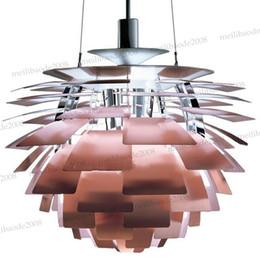 Wholesale Ph Modern Lamp - Dia 38 48 60 72cm White Hot Pink Silver Golden Copper Poul Henningsen PH Artichoke Ceiling Light Pendant Lighting Droplight Lamp