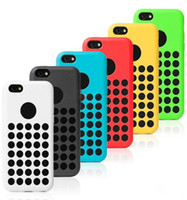 Wholesale Iphone 5c Colorful Case - Cell Phone Case 5C TPU Case For iPhone 5C Mini Colorful Cover Polka Dot Free Shipping iPhone5C DHL Free Ship
