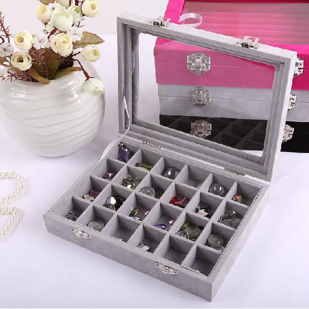 2018 Upscale Wooden Flip Earring Box Jewelry Accessories Boxes