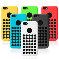 Cheap New 5C TPU Case For iPhone 5C Mini Colorful Cover Polka Dot iPhone5C Cell Phone Cases DHL EMS Free