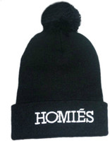 Wholesale Cheap Basketball Pom Beanies - 2013 New Style Fashion Hiphop Homies Beanie 4 Colors snapbacks cap and hat Homies with Pom Pom Beanies Cheap Beanies Free Shipping