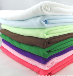 Wholesale microfiber absorbent hair towels - 10 colors world ship 50pcs 30*70CM Soft Microfiber Bath Sheet Beach Towel Absorbent Cloths Drying Shower white pink purple coffee blue