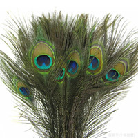 Wholesale porcelain materials - Elegant decorative materials Real Natural Peacock Feather Beautiful Feathers about 25 to 30 cm free shipping