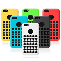Wholesale Dots Back Cover Protector Cases - New Arrival iphone5C iphone 5C case dot dots back cover protector cases clear Silicon crystal specially designed soft rubber