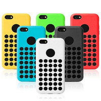 Wholesale Iphone 5c Silicon Dots - Factory Price Direct Selling iphone 5C 5 C Mini Case Cover Dot Dots Cases Silicon Soft Rubber Shock Dust Proof Cover Case DHL Free Ship