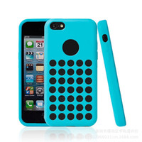 Wholesale Iphone 5c Colorful Case Cover - 5C TPU Case Cell phone Case For iPhone 5C Mini Colorful Cover Polka Dot DHL Free Shipping iPhone5C