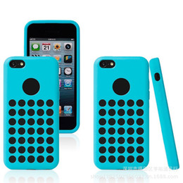 Wholesale Cover Iphone5c - 5C TPU Case For iPhone 5C Mini Colorful Cover Polka Dot DHL EMS Free Shipping iPhone5C Case
