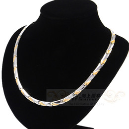 Wholesale Germanium Necklaces - Fashion titanium steel germanium healthy unisex necklace resist fatigue jewelry