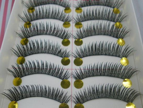 Caliente ! 20 par largo rizo superior pestañas suaves pestañas negro extensiones de maquillaje hechas a mano