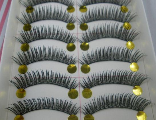 Hot ! Long Upper Curl Soft False Eye lashes Black Handmade Make up Extensions