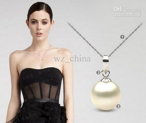 Long Pearl Pendant 925 Sterling Silver Necklace Luxury Pearl Fashion Women Bohemian Necklace Pendant 10cm Ball Ladies Jewelry