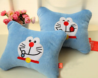 Wholesale car cushion for neck light blue cat doraemon hold pillow head cushion auto health leaning Square soft two expression wh