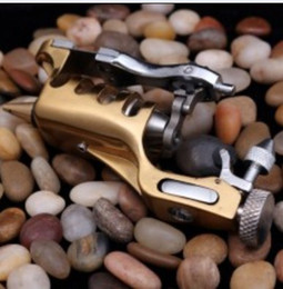 Wholesale Rotary Tattoo Gold - Hot!!Sell Professional Swiss Motor Rotary Tattoo Machine Gun Sunshine Gold  Black Color For Shader & Liner Tattoo Supply