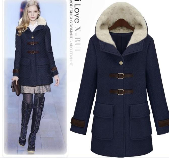 2016 Hot Sail Womens Coat Hooded Trench Coat Sexy Winter Coats