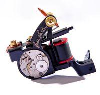 Wholesale tattoo gun machine design - New Design Luo's Tattoo Machine Guns Handmade For Liner 10 Wrap Coils Tattoo Supply