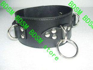 BDSM FATORY PVC Limit Collars Leather Collar Belt/Chasity SM