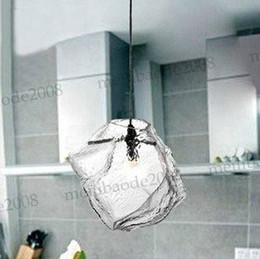 Wholesale Modern Ice - Free shipping Ice Style 1 Head Modern Crystal Glass Home Living Room Restaurant Glass Chandelier Pendant Lamps Lights Lighting MYY6205