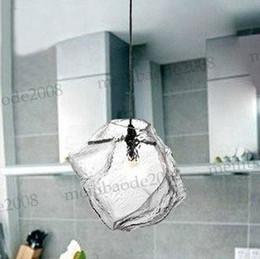 Wholesale Modern Lamps Restaurants - Free shipping Ice Style 1 Head Modern Crystal Glass Home Living Room Restaurant Glass Chandelier Pendant Lamps Lights Lighting MYY6205