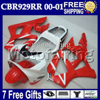 7gifts Free Customized für HONDA CBR929RR 00 01 CBR 929 929RR Rot weiß schwarz MF658 900RR CBR900RR CBR929 RR 2000 2001 NEU Red Fairing Body