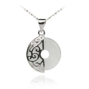 Wholesale Fine Jewelry Silver Pendant Guaranteed 100% Solid 925 Sterling Silver With White Opal Stone PW2038 on Sale