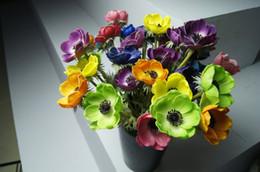 Canada Livraison gratuite! 30 pcs 32 CM PU Latex Herbe Roses Real Touch Fleurs Artificielles Mariage Maison Décor 7 Couleur Option # AGSS-01R Offre