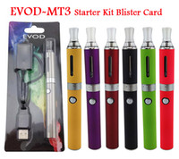 Wholesale Ego Starter Kit Bcc - Evod battery eVod BCC MT3 Cartomizer clearomizer Blister Card E Cigarettes colorful evod starter kit ego starter kit 200pc Fedex