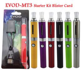 Wholesale Blister Mix - MT3 eVod Starter Kit ego Blister kits Clearomizer Rechargable eVod Battery 650mah 900mah 1100mah DHL Free Mix Order Available
