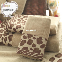 5pcs/set in spugna di Cotone 100% fashion stampa leopardo serie 28*46cm asciugamano set