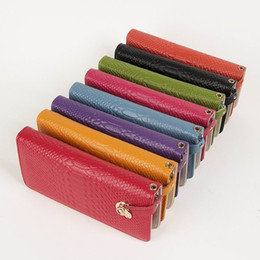 Wholesale Blue Patent Leather Clutch - 8 colors ladies girls Patent Leather Purse card cell pone Wallet Purse Long Clutch Handbag Bag phone package #3277